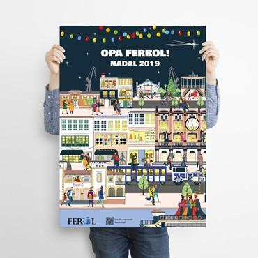 Cartaz Nadal Ferrol 19